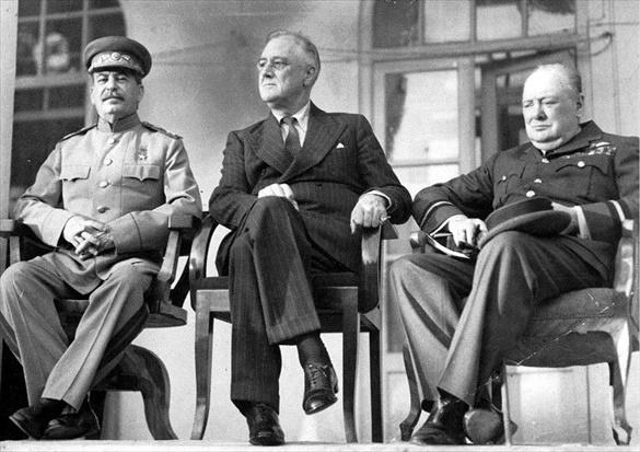 Big Three at Tehran Conference, November 28 to December 1, 1943