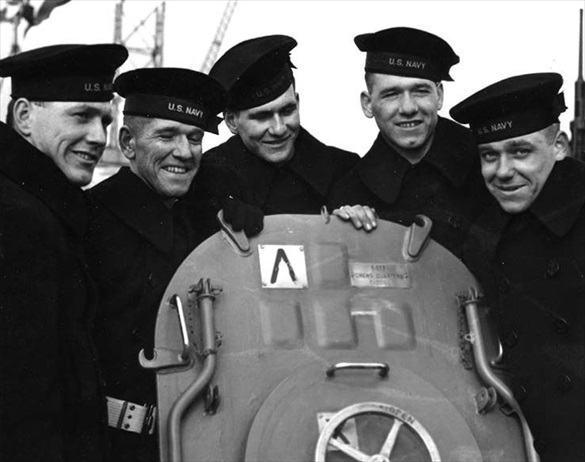 Five Sullivan brothers, February 14, 1942