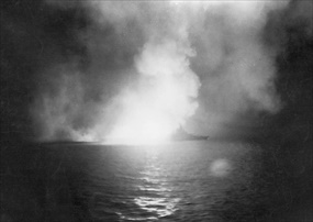"Battle of Surigao Strait, October 25, 1944: USS ""West Virginia"""