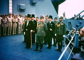 Japanese surrender delegation, September 2, 1945