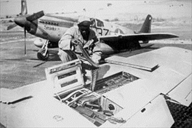 99th Fighter Squadron mechanic and P-51 Mustang