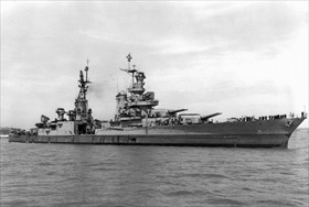 USS Indianapolis off Mare Island, July 1945