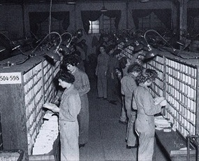 Women's Army Corps (WAC) servicemembers mail for ETO delivery