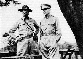 Generals Wainwright and MacArthur, Philippines, October 1941