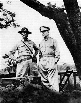 Generals Wainwright and MacArthur, Philippines, Oct. 1941