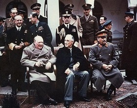 Yalta Conference participants, February 4–11, 1945