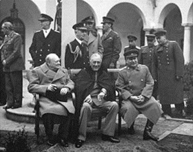 """Big Three"", wartime Yalta Conference, February 4–11, 1945"