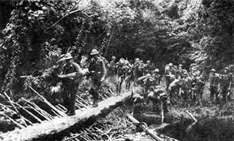 Buna-Gona Campaign: 128th Infantry Regiment, 32nd Division, en route to Buna, late 1942