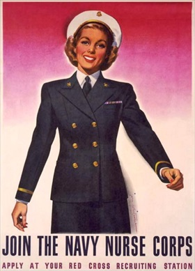 WWII Navy Nurse Corps recruiting poster