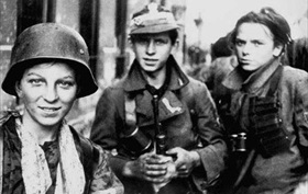 Polish Boy Scout soldiers, Warsaw, September 2, 1944