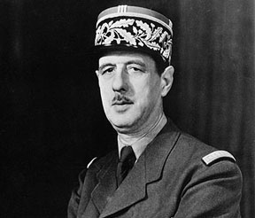 Wartime photo of Charles de Gaulle