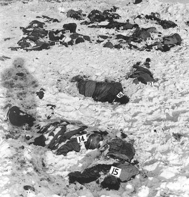 Malmedy Massacre of 84 American POWs by Waffen-SS