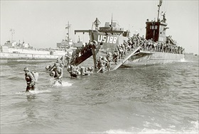 3rd Infantry Division disembarking at Cavalaire-sur-Mer, August 15, 1944