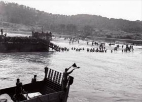 45th Infantry Division lands at Sainte Maxime during Operation Dragoon