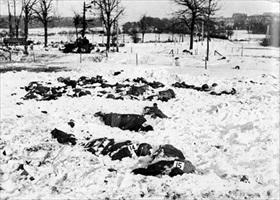 Malmedy Massacre victims at Baugnez execution site