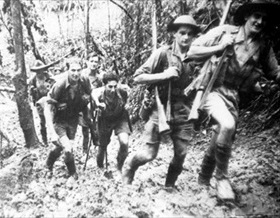 Australian 39th Battalion on Kokoda Trail, New Guinea, 1942