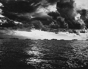 Amphibious forces off Leyte Island, October 20, 1944