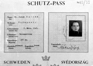 Swedish Schutzpass of Rabbi József Katona