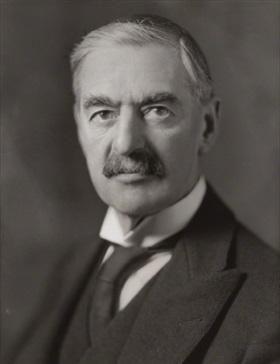British Wartime Prime Minister Neville Chamberlain, 1939–1940