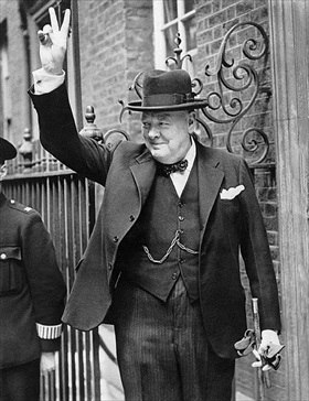 British Wartime Prime Minister Winson Churchill, 1940–1945
