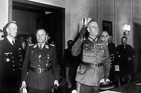 German unconditional surrender, Berlin, May 8, 1945. German representatives arrive